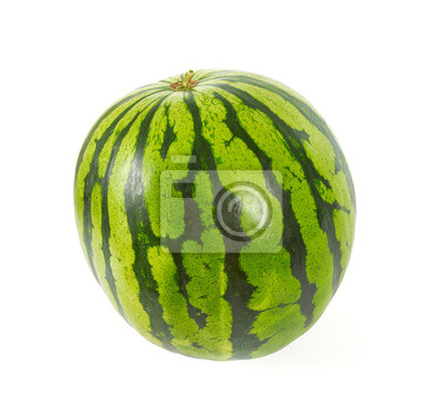 Plakat water melon isolated on white
