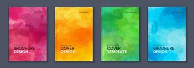 Plakat Watercolor A4 booklet colourful cover bundle set