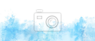 Plakat Watercolor border isolated on white, artistic background