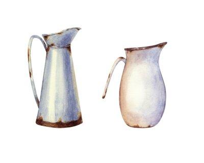 Plakat Watercolor enameled jug