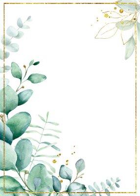 Plakat Watercolor floral frame