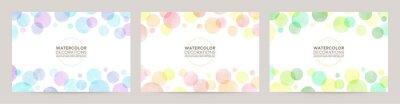 Plakat watercolor vector colorful bubble frames