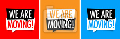 Plakat We are moving