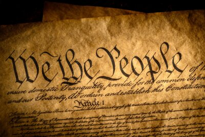 Plakat We the people, the beginning of the preamble to the United States constitution