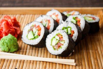 Plakat wegetariańskie sushi
