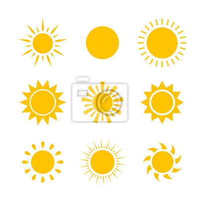 Plakat Wektor nowoczesne słońce zaszło słońce