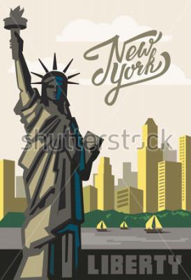 Plakat wektor point orientacyjny i symbol wolności i demokracji