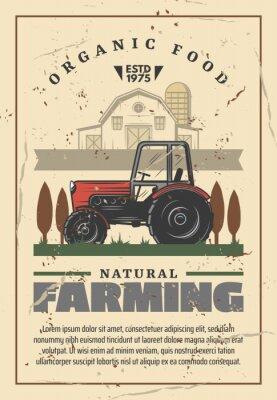 Plakat Wektor retro rolnictwa i rolnictwa