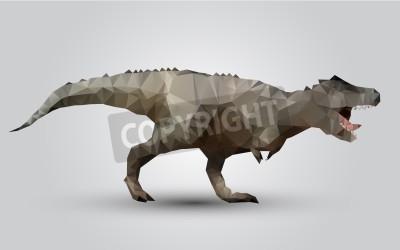 Wektor stylizowane dinozaura modelu bardzo trójkąt wielokątne