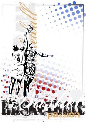 Plakat wektor tło plakatu koszykówka