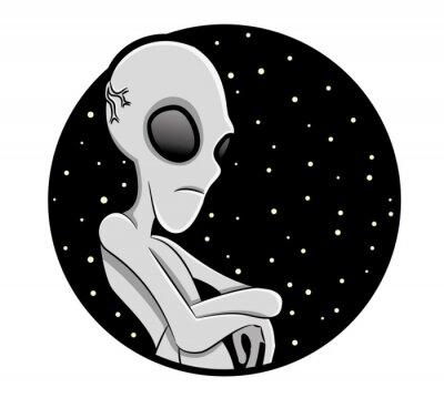 Plakat Wektor znak. Alien.