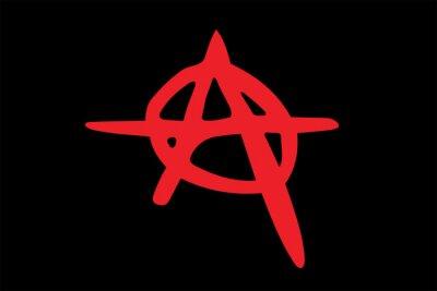 Plakat Wektor znak anarchii.