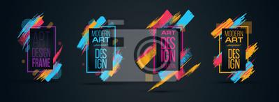 Plakat Wektorowa ramka tekstu Nowoczesna grafika artystyczna dla hippisów