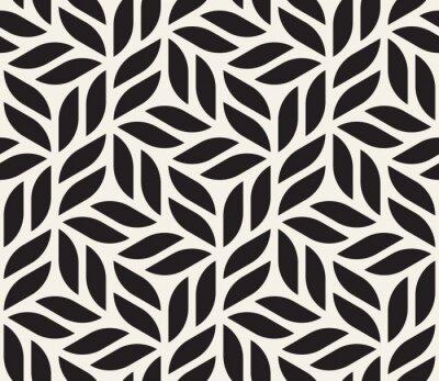 Plakat Wektorowy bezszwowy wzór. Nowoczesny stylowy streszczenie tekstura. Powtarzanie geometrycznych kształtów z elementów w paski
