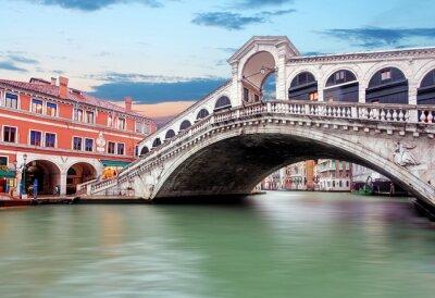 Plakat Wenecja - Canal Grande od mostu Rialto