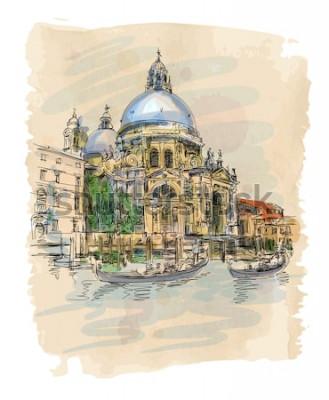 Plakat Wenecja - Katedra Santa Maria della Salute