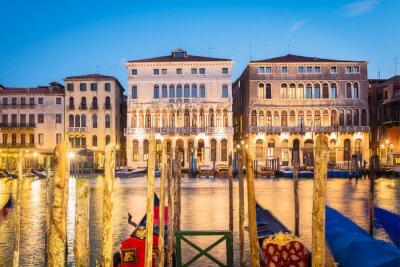 Plakat Wenecja nocą