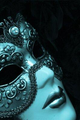 Plakat weneckie maski