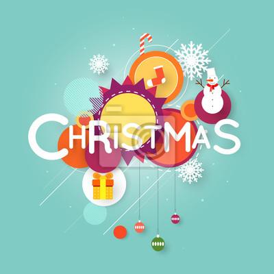 Wesołych świąt I Szczęśliwego Nowego Roku Plakat Z Tekstem Stylowy Plakaty Redro