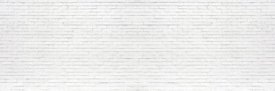 Plakat white brick wall may used as background