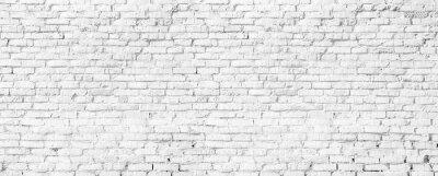 Plakat white brick wall texture