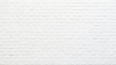 Plakat White brick wall texture background for stone tile block painted in grey light color wallpaper modern interior and exterior and backdrop design