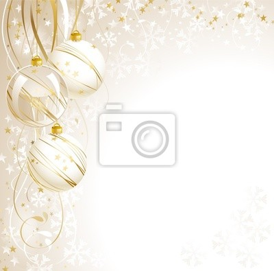 Plakat White Christmas background
