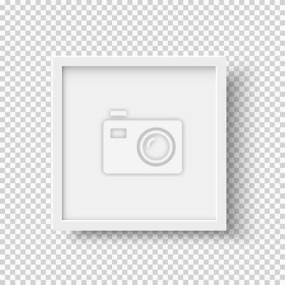 Plakat White realistyczne kwadratowych puste ramki obrazu na przezroczystym tle