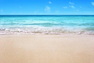 Plakat white sandy tropical summer beach background