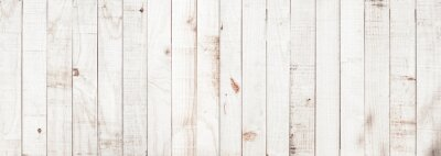 Plakat White wood texture background coming from natural tree. Wooden panel with beautiful patterns. Space for your work.