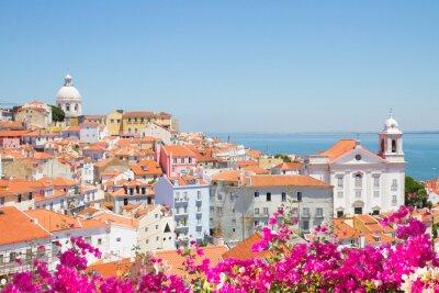 Plakat Widok Alfama, Lizbona, Portugalia