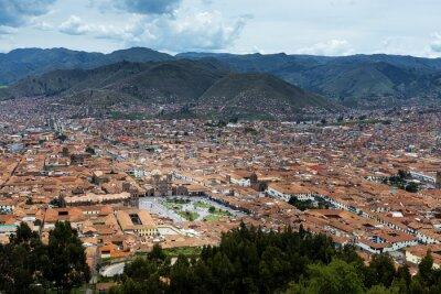 Plakat Widok miasta Cuzco, w Peru, Ameryka Południowa