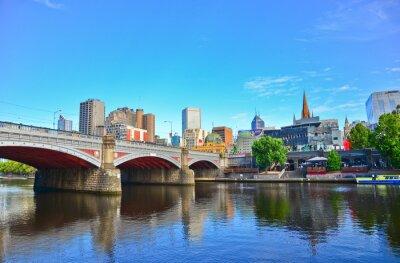 Plakat Widok na panoramę Melbourne latem