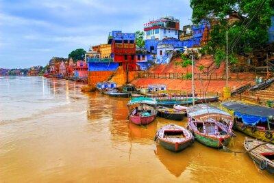 Plakat Widok na rzekę Ganges Varanasi, Indie