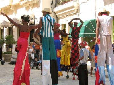 Plakat Widok parady karnawałowe na ulicach Hawany