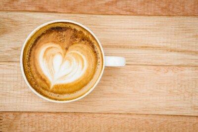 Plakat Widok serca składa się z kawy