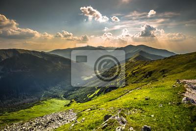 Plakat Widok z Kasprowego Wierchu szczycie w polskich Tatrach