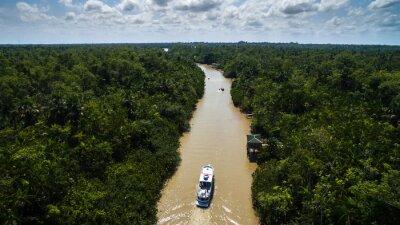 Plakat Widok z lotu ptaka Amazonki w Belem do Para, Brazylia