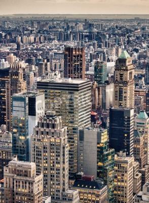 Plakat Widok z lotu ptaka Skyline Nowym Jorku, USA