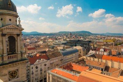 Plakat Widok z wieży katedry Budapeszcie na Węgrzech