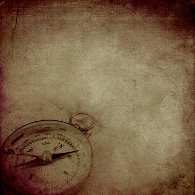Plakat Wieku papier z kompasem