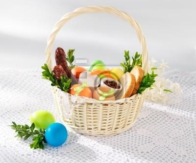 4e62d5478bfa23 Plakat Wielkanocny koszyk z jedzeniem 1 na wymiar • tradycyjny ...