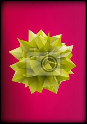 Plakat Wielościan do projektowania graficznego. Low-poly styl ilustracji