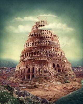 Plakat Wieża Babel
