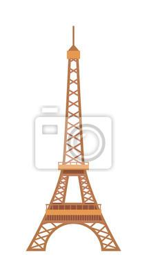 Plakat Wieża Eiffla Paryż Francja góry architektury ilustracji wektorowych.