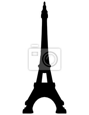 Plakat Wieża Eiffla sylwetka Paris - VECTOR