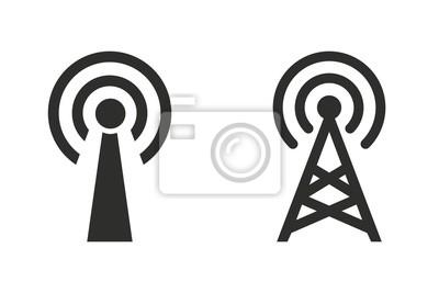 Plakat Wieża komunikacji - ikona wektor.