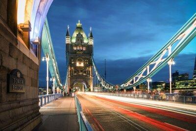 Plakat Wieża London o zmierzchu