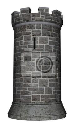 Plakat Wieża zamkowa - 3D render