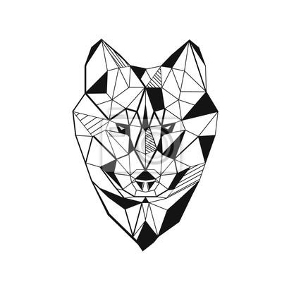 Wilk stylizowany trójkątny model